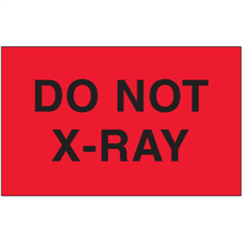 """""""Do Not X-Ray"""" (Fluorescent Red) Shipping and Handling Labels"""
