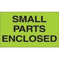 """Small Parts Enclosed"" (Fluorescent Green) Shipping and Handling Labels"