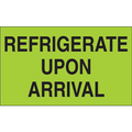 """Refrigerate Upon Arrival""  (Fluorescent Green) Shipping and Handling Labels"