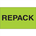 """""""Repack"""" (Fluorescent Green) Shipping and Handling Labels"""
