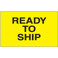 """Ready to Ship"" (Fluorescent Yellow) Shipping and Handling Labels"
