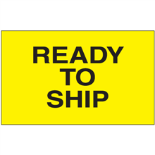"""""""Ready to Ship"""" (Fluorescent Yellow) Shipping and Handling Labels"""