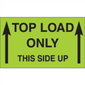 """3"""" x 5"""" - """"Top Load Only - This Side Up""""  (Fluorescent Green) Labels"""