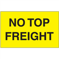 """""""No Top Freight"""" (Fluorescent Yellow) Shipping and Handling Labels"""