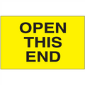 """""""Open This End"""" (Fluorescent Yellow) Shipping and Handling Labels"""