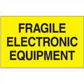 """""""Fragile Electronic Equipment""""  (Fluorescent Yellow) Shipping and Handling Labels"""