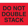 """Do Not Double Stack"" (Fluorescent Red) Shipping and Handling Labels"