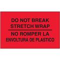 """""""No Romper La Envoltura De Plastico"""" (Fluorescent Red) Bilingual Shipping and Handling Labels"""