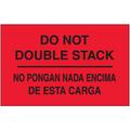 """""""No Pongan Nada Encima De Esta Carga"""" (Fluorescent Red) Bilingual Shipping and Handling Labels"""