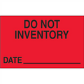 """Do Not Inventory - Date""  (Fluorescent Red) Production Labels"