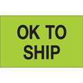 """OK To Ship"" (Fluorescent Green) Production Labels"