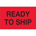 "1 1/4"" x 2"" - ""Ready To Ship"" (Fluorescent Red) Labels"