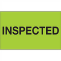 """Inspected"" (Fluorescent Green) Production Labels"