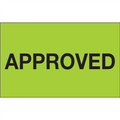 """Approved"" (Fluorescent Green) Production Labels"