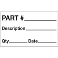 """Part # - Description - Qty - Date"" Production Labels"