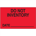 """""""Do Not Inventory - Date""""  (Fluorescent Red) Production Labels"""