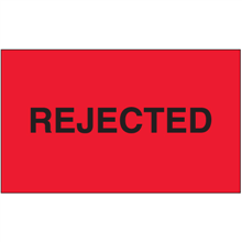 """""""Rejected"""" (Fluorescent Red) Production Labels"""