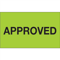 """""""Approved"""" (Fluorescent Green) Production Labels"""