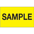 """""""Sample"""" (Fluorescent Yellow) Production Labels"""