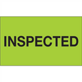 """""""Inspected"""" (Fluorescent Green) Production Labels"""