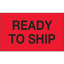 """""""Ready To Ship"""" (Fluorescent Red) Production Labels"""