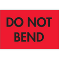 """Do Not Bend"" (Fluorescent Red) Shipping Labels"
