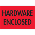 """Hardware Enclosed"" (Fluorescent Red) Shipping Labels"