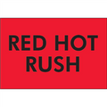 """Red Hot Rush"" (Fluorescent Red) Shipping Labels"