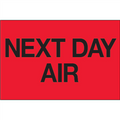 """Next Day Air"" (Fluorescent Red) Shipping Labels"