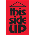 """This Side Up"" (Fluorescent Red) Shipping Labels"