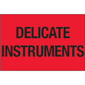 """Delicate Instruments"" (Fluorescent Red) Shipping Labels"