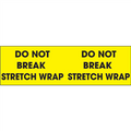 """Do Not Break Stretch Wrap""  (Fluorescent Yellow) Pallet Corner Labels"