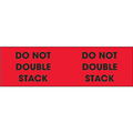 """Do Not Double Stack"" (Fluorescent Red) Pallet Corner Labels"