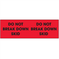 """Do Not Break Down Skid""  (Fluorescent Red) Pallet Corner Labels"