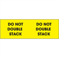 """Do Not Double Stack"" (Fluorescent Yellow) Pallet Corner Labels"