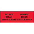 """Do Not Break Stretch Wrap""  (Fluorescent Red) Pallet Corner Labels"