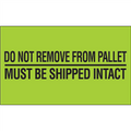 """Do Not Remove From Pallet""  (Fluorescent Green) Pallet Protection Labels"