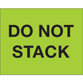"""Do Not Stack"" (Fluorescent Green) Pallet Protection Labels"