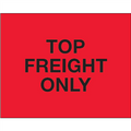 """Top Load Freight Only""  (Fluorescent Red) Pallet Protection Labels"