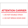 """Attention Carrier"" Pallet Protection Labels"