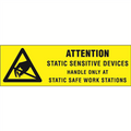 """Attention - Static Sensitive Devices"" Anti-Static Labels"