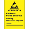 """Contents Static Sensitive"" Anti-Static Labels"
