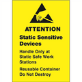 """Static Sensitive Devices"" Anti-Static Labels"