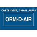 """Cartridges, Small Arms  ORM-D-AIR"" Labels"