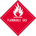 """Flammable Gas"" Subsidiary Risk Labels"