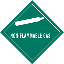"""""""Non-Flammable Gas"""" Subsidiary Risk Labels"""