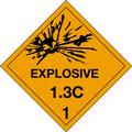 """Explosive - 1.3C - 1"" D.O.T. Hazard Labels"