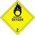 """Oxygen - 2"" D.O.T. Hazard Labels"