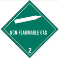 """""""Non-Flammable Gas - 2"""" D.O.T. Hazard Labels"""
