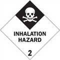 """""""Inhalation Hazard - 2"""" D.O.T. Hazard Labels"""